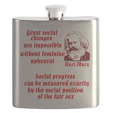 Karl Marx on Women Flask