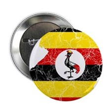 """Uganda Flag And Map 2.25"""" Button (100 pack)"""