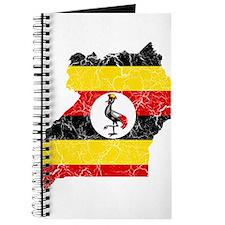 Uganda Flag And Map Journal