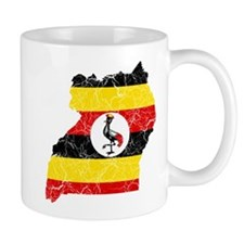 Uganda Flag And Map Mug