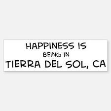 Tierra del Sol - Happiness Bumper Bumper Bumper Sticker