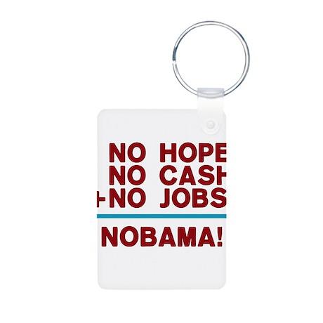 No Hope Obama Aluminum Photo Keychain