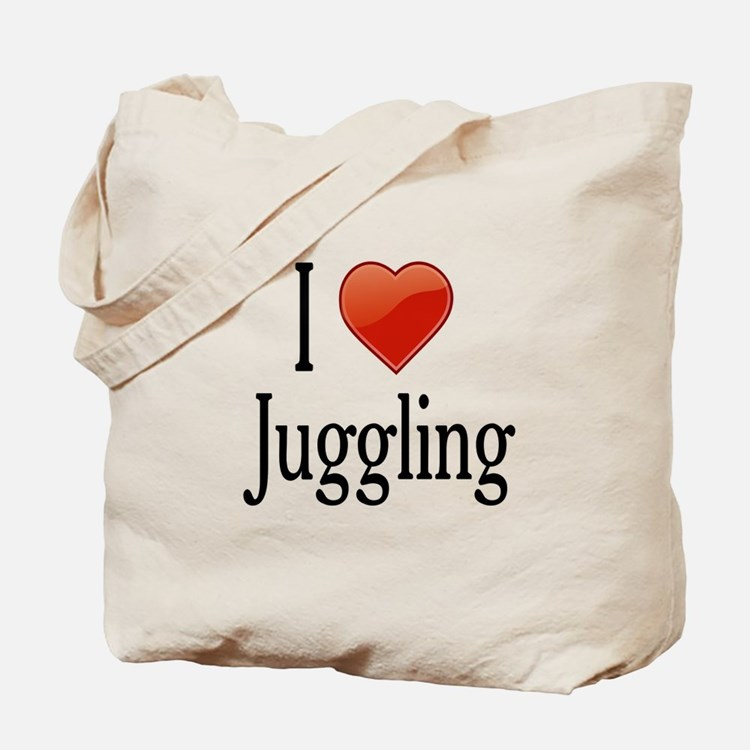 I Love Juggling Tote Bag