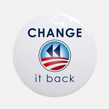 Change It Back Ornament (Round)