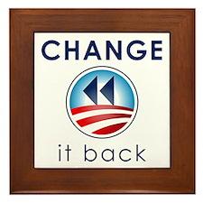 Change It Back Framed Tile