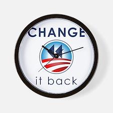 Change It Back Wall Clock
