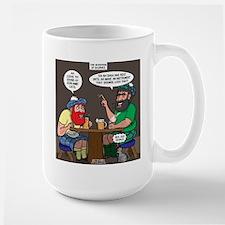 Origin of Bagpipes Large Mug
