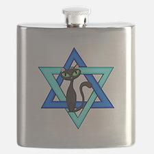 Jewish Cat Stars Flask