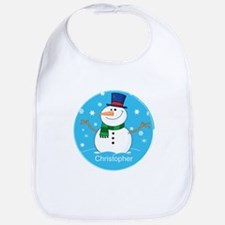Cute Personalized Snowman Xmas gift Bib