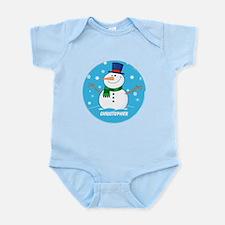 Cute Personalized Snowman Xmas gift Infant Bodysui
