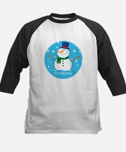 Cute Personalized Snowman Xmas gift Tee