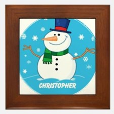 Cute Personalized Snowman Xmas gift Framed Tile