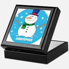 Cute Personalized Snowman Xmas gift Keepsake Box
