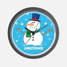 Cute Personalized Snowman Xmas gift Wall Clock