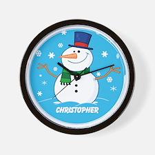 Cute Personalized Snowman Xmas gift Wall Clock