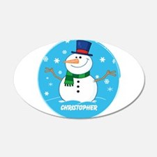 Cute Personalized Snowman Xmas gift Wall Decal