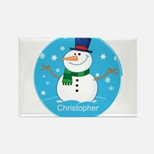 Cute Personalized Snowman Xmas gift Rectangle Magn
