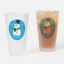 Cute Personalized Snowman Xmas gift Drinking Glass