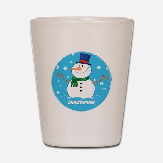 Cute Personalized Snowman Xmas gift Shot Glass