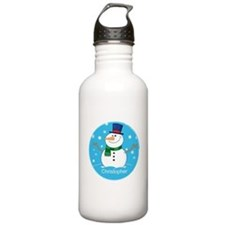 Cute Personalized Snowman Xmas gift Water Bottle