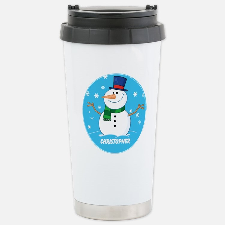Cute Personalized Snowman Xmas gift Travel Mug
