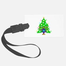 Hanukkah and Christmas Families Luggage Tag