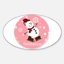 Cute Personalized Snowman Xmas gift Decal