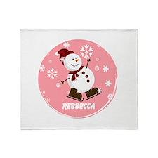 Cute Personalized Snowman Xmas gift Stadium Blank