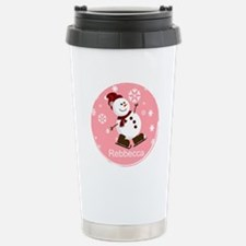 Cute Personalized Snowman Xmas gift Travel Mug