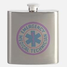 EMT Logo Pastel Flask