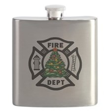 Firefighter Christmas Tree Flask