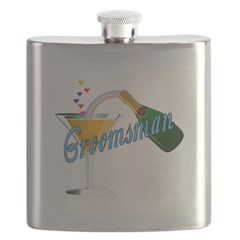 Groomsman Champagne Toast Flask