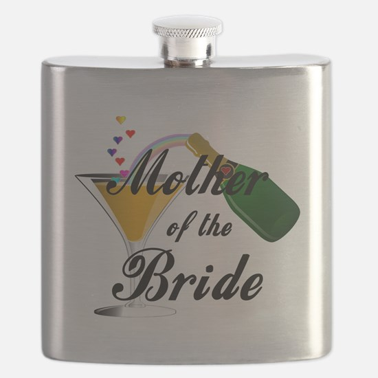 mother of bride black.png Flask