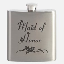 Classic Maid of Honor Flask