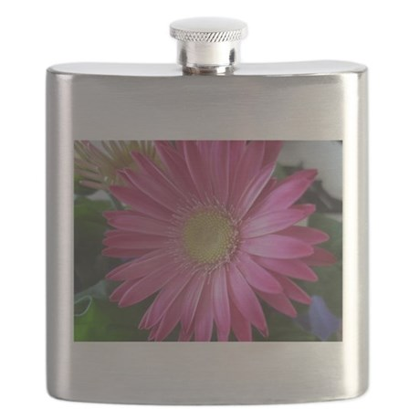 Pink Daisy Princess Flask