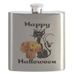 Halloween Black Cat Flask