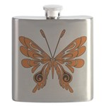 'Butterfly Tattoos Flask