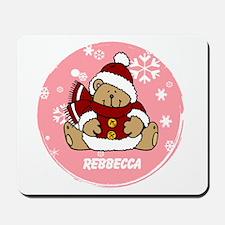 Cute Personalized Teddy Bear Xmas gift Mousepad