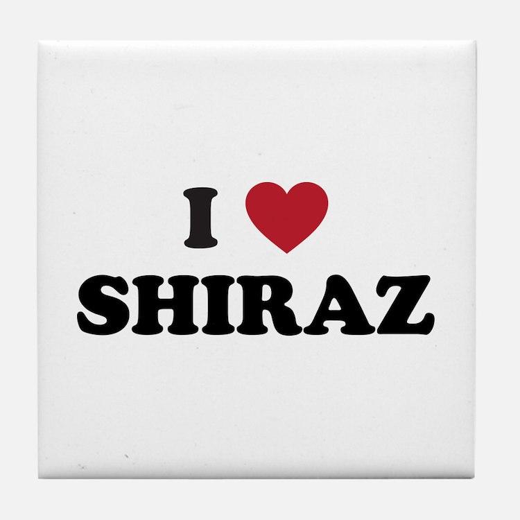 I Love Shiraz Tile Coaster