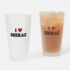 I Love Shiraz Drinking Glass
