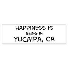Yucaipa - Happiness Bumper Bumper Sticker