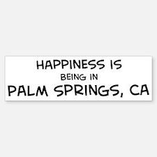 Palm Springs - Happiness Bumper Bumper Bumper Sticker