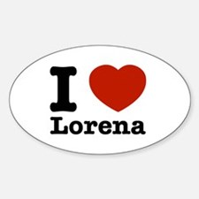 I love Lorena Decal