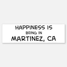 Martinez - Happiness Bumper Bumper Bumper Sticker