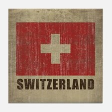 Vintage Switzerland Tile Coaster