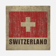 Vintage Switzerland Queen Duvet