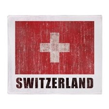 Vintage Switzerland Throw Blanket