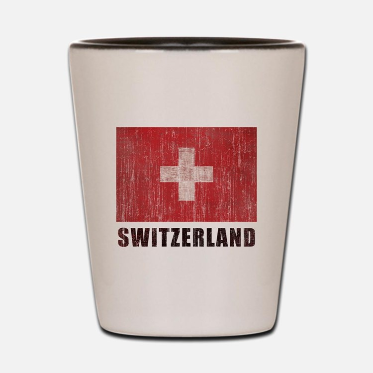 Vintage Switzerland Shot Glass