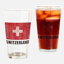 Vintage Switzerland Drinking Glass