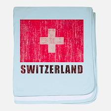 Vintage Switzerland baby blanket